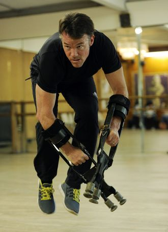 Terry Notary during rehearsals for Dawn of the Planet of the Apes