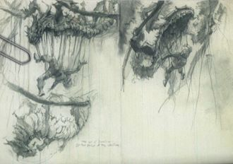 Sketches of the Vinestrangler in Skull Island: Archives