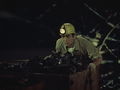 Rodan 1956 - Shigeru riding on the mine cart.png