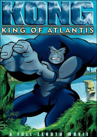 The North American DVD cover for Kong: King of Atlantis