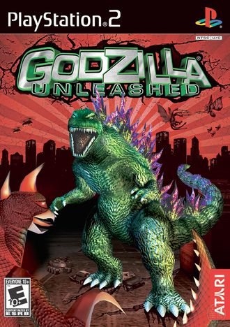 North American Godzilla: Unleashed PlayStation 2 box art