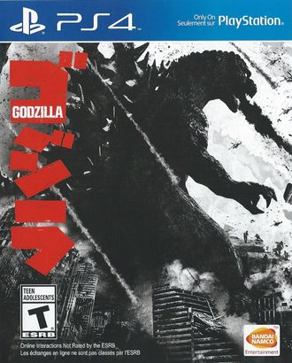 North American PlayStation 4 cover art for Godzilla