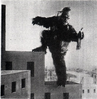 A promotional still from Japanese King Kong