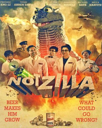The American poster for Notzilla