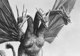 Production still of King Ghidorah from Godzilla vs. King Ghidorah