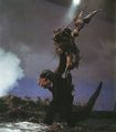 EHOTD - Godzilla About to Slam Ebirah on Set.jpg