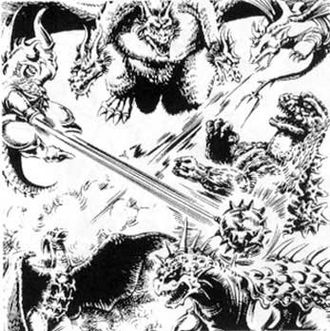 The Return of King Ghidorah artwork by Hurricane Ryu Hariken