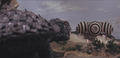 Gamera - 4 - vs Viras - 6 - Gamera obeys the aliens because if he does not then two boys will be killed.png