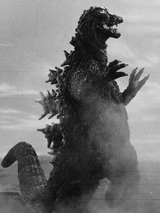 The MosuGoji in a promotional still from Ghidorah, the Three-Headed Monster