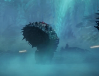 A worm-type Servum in GODZILLA: City on the Edge of Battle