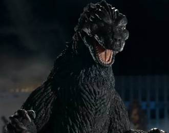 Godzilla in the Snickers® Godzilla™ commercial