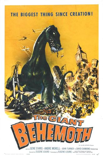The American poster for The Giant Behemoth