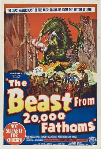 The American poster for The Beast From 20,000 Fathoms