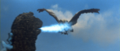 All Monsters Attack - Giant Condor is burning alive.png