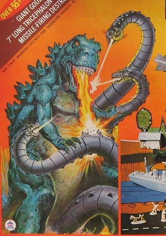 Tricephalon in the boxart of Godzilla Battles the Tricephalon