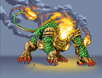 Only known full view image of Fire Lion