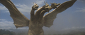 DAM - King Ghidorah (Heads-to-Thighs) Aproaching Godzilla and Gorosaurus.png