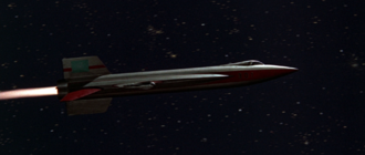 An FFE Space Fighter in Battle in Outer Space