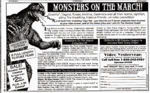 1997-11-25 Monsters on the March Video Yesteryear ad.png