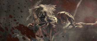 The White Titan as it appears in Attack on Titan the Movie: Part 2