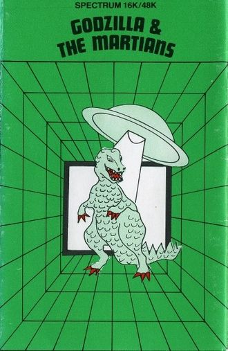 Godzilla & the Martians cassette inlay art