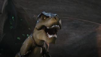 A Biono-bot Tyrannosaurus in Kong in 3D