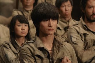 Eren as he appears in Attack on Titan the Movie: Part 1