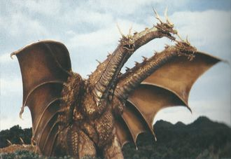 Modern Type King Ghidorah in Rebirth of Mothra III