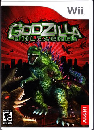 North American Godzilla: Unleashed Wii box art