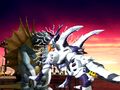 Godzilla Trading Battle - Balkzardan Attacks Gigan.png