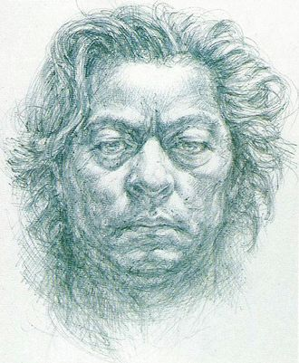 Self-portrait of Noriyoshi Ohrai made in the early 1980's