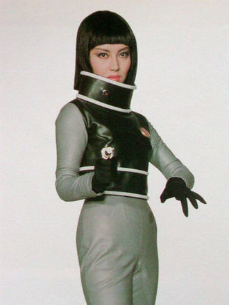 Kumi Mizuno as Miss Namikawa in a publicity photo for Invasion of Astro-Monster