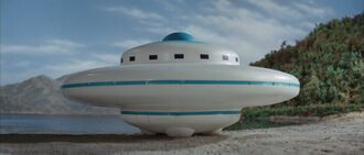An Xilien UFO in Invasion of Astro Monster