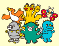 Chibi Godzilla monsters.png