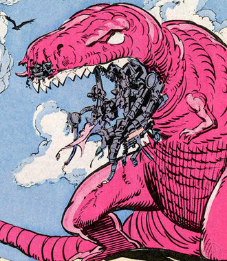The robotic Devil Dinosaur in The Thing #31