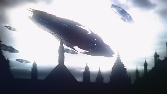Bilusaludo UFOs in Godzilla: Planet of the Monsters