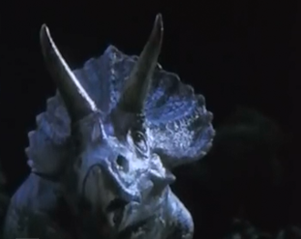 A Triceratops in Rebirth of Mothra III