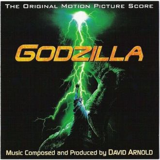 The cover for the European release of the GODZILLA (1998) and Godzilla 2000 soundtracks