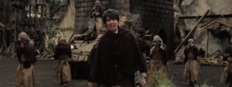 Shikishima as he appears in Attack on Titan the Movie: Part 2