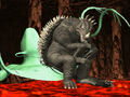 Godzilla Trading Battle - Anguirus Attacks Dogora.png