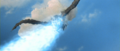All Monsters Attack - Giant Condor gets shot down while in stock footage form.png