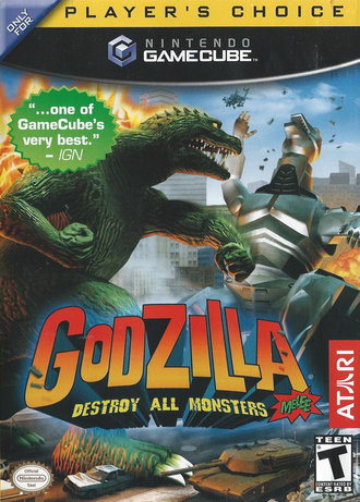 Godzilla: Destroy All Monsters Melee Front Cover