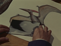 Two portrait of Pteranodon and a Rodan's wing and feet.png