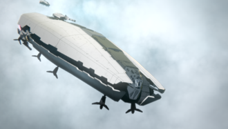 A Landing Ship in GODZILLA: Planet of the Monsters