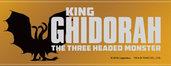GKOTM merchandise - King Ghidorah, the three headed monster subtitle.png