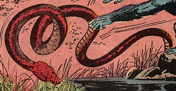 The giant snake in the 1968 comic adaptation of King Kong