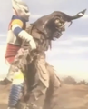 Godzilla vs. Megalon 5 - Jet Jaguar Grabs Megalon.png