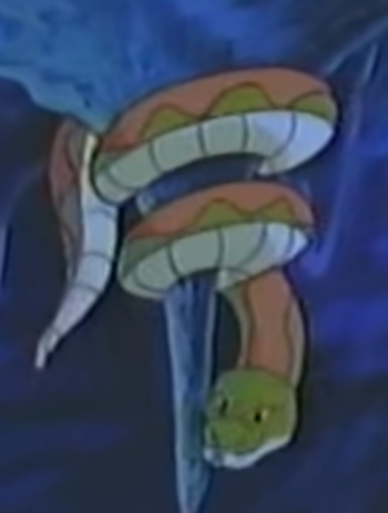 The giant snake in The Mighty Kong