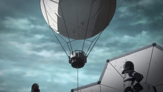 A Transmission Balloon in Godzilla: Planet of the Monsters