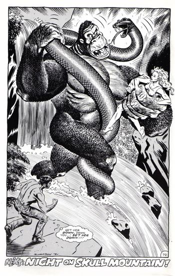 The giant snake in the 1991 comic adaptation of King Kong